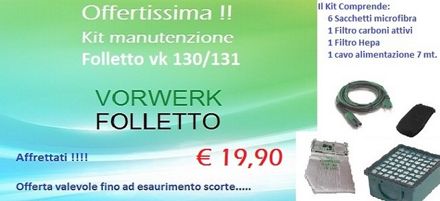 Offertissima Folletto Vk 130/131