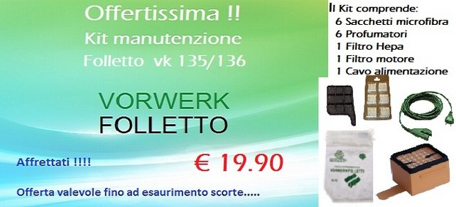 Offertissima Folletto Vk 135/136